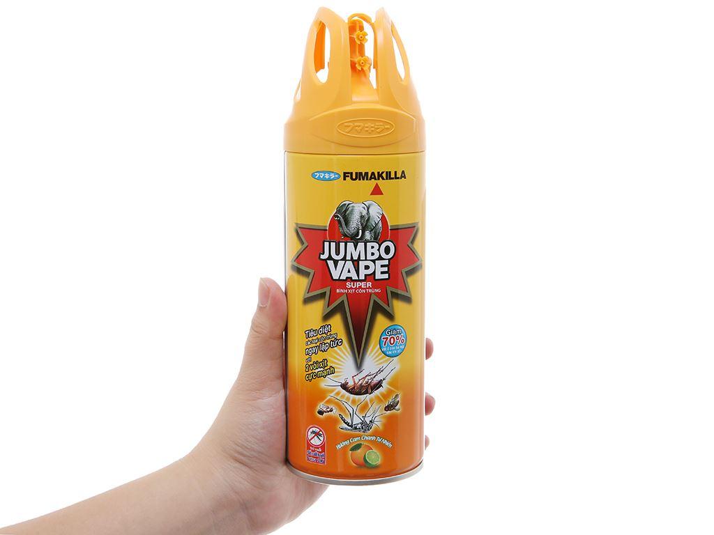 Bình xịt côn trùng Jumbo Vape SUPER hương cam & chanh 300ml 5