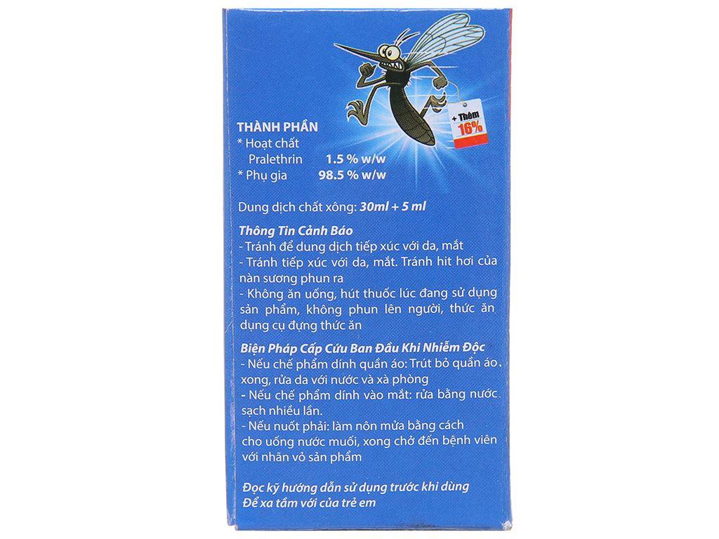 Chất xông đuổi muỗi Mosfly LV hương Lavender 30ml 4