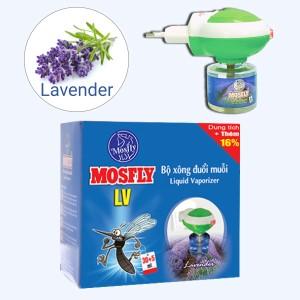 Bộ xông đuổi muỗi Mosfly LV hương lavender 30ml