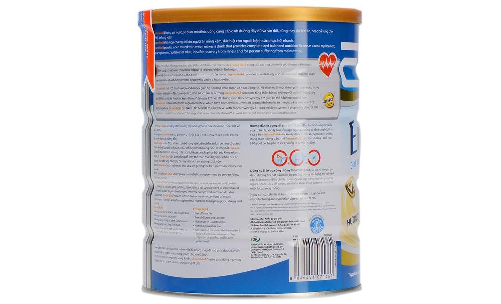 Sữa bột Ensure Gold Vanilla lon 900g