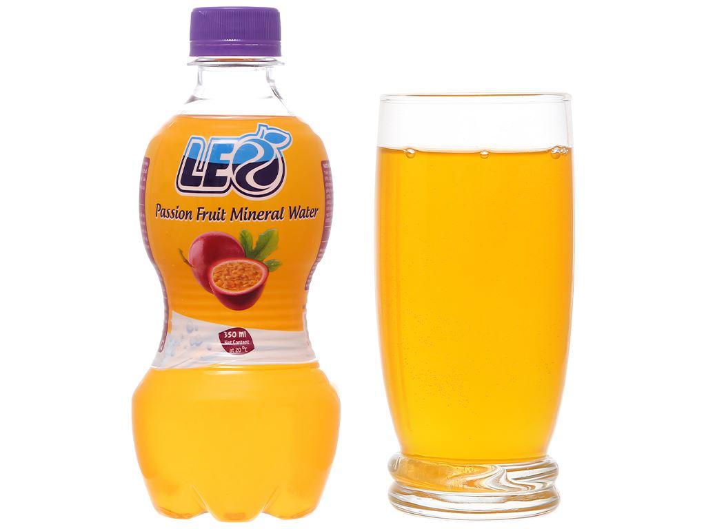 6 chai nước khoáng có ga Leo vị chanh dây 350ml 7