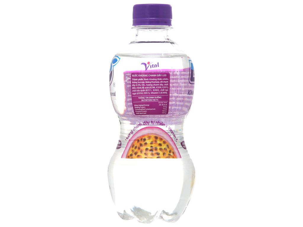 6 chai nước khoáng có ga Leo vị chanh dây 350ml 3