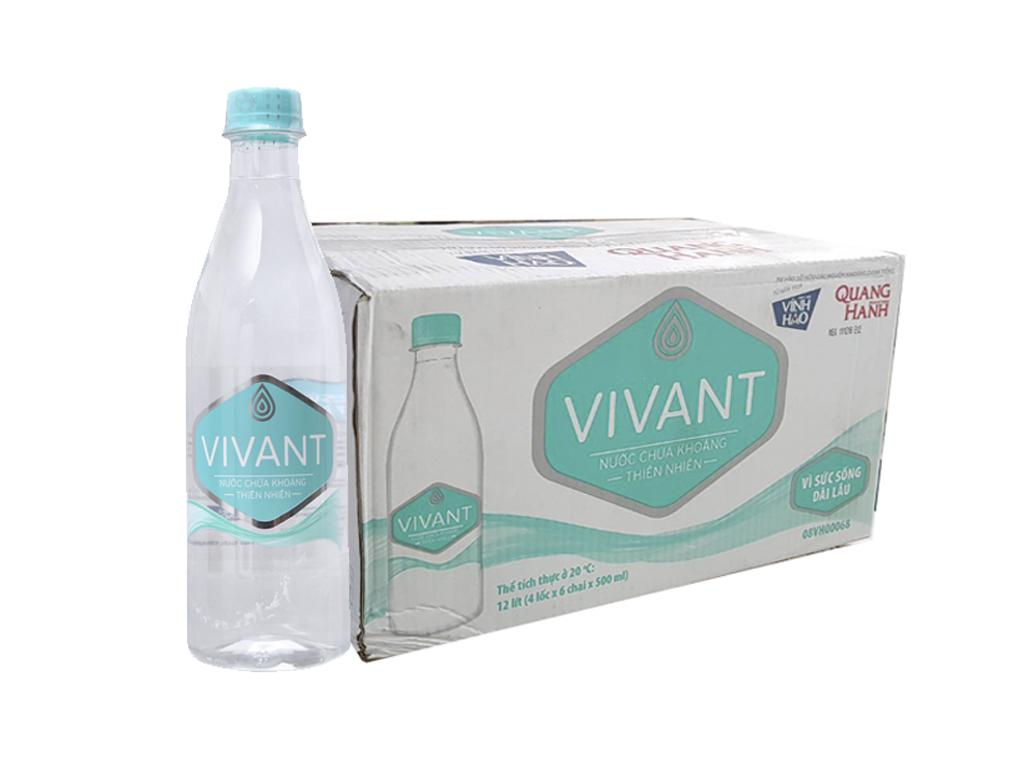 Thùng 24 chai nước khoáng Vivant 500ml 1