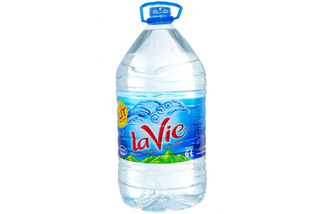 Thùng 4 chai nước khoáng La Vie 6 lít 2