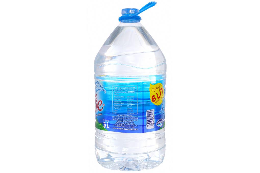 Thùng 4 chai nước khoáng La Vie 6 lít 3