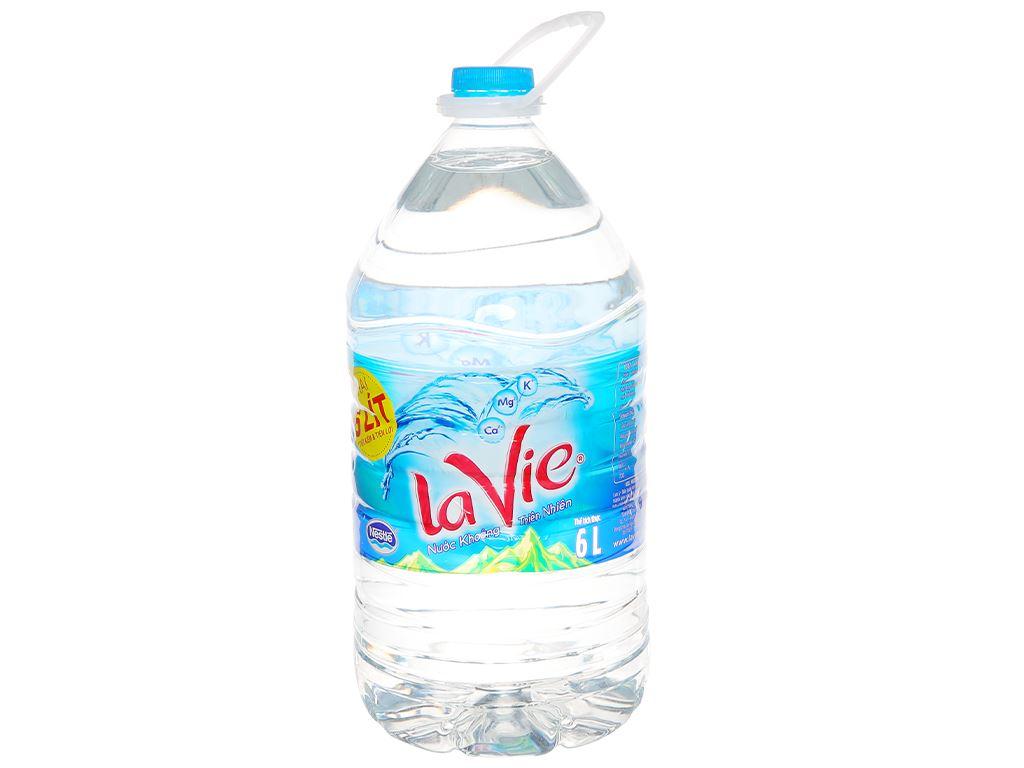 Thùng 4 chai nước khoáng La Vie 6 lít 5