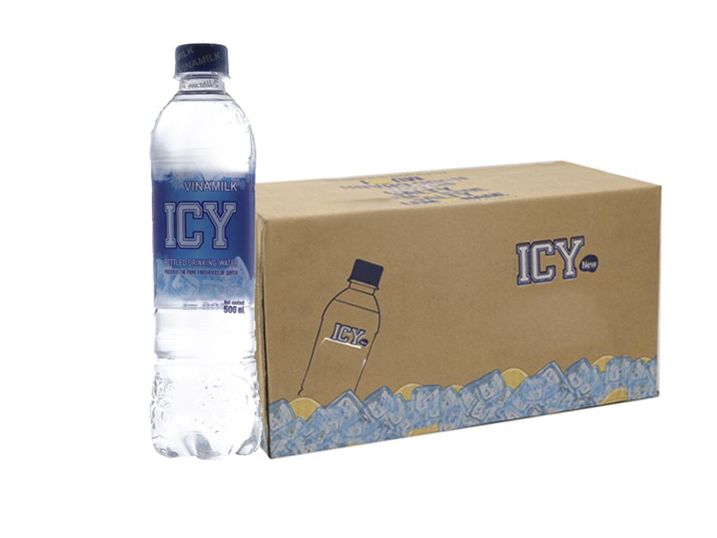 Thùng 24 chai nước tinh khiết Icy 500ml 1