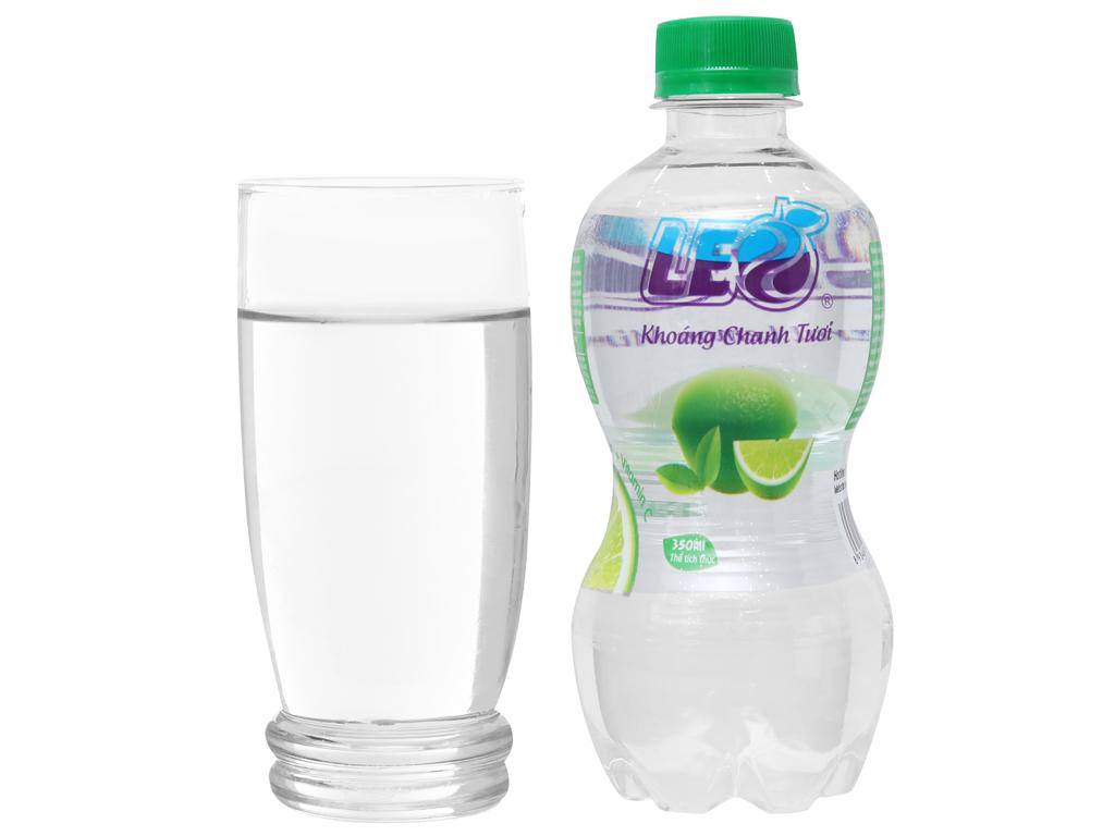 6 chai nước khoáng có ga Leo vị chanh 350ml 3