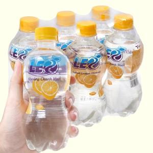 6 chai nước khoáng có ga Leo vị chanh muối 350ml