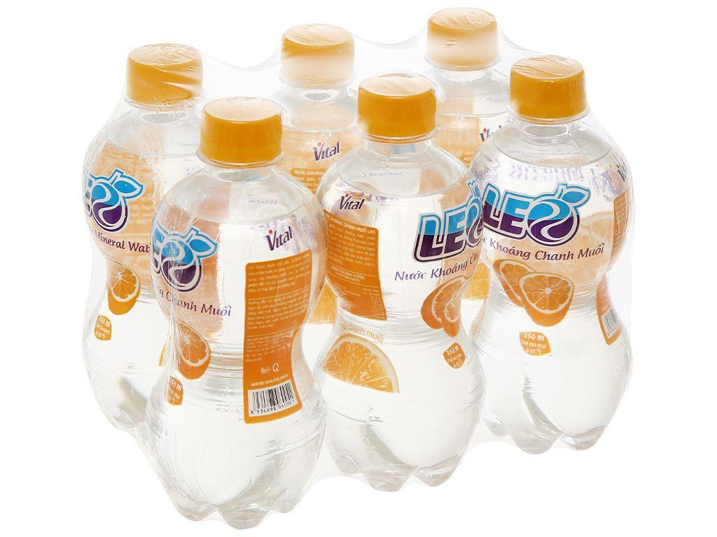 6 chai nước khoáng có ga Leo vị chanh muối 350ml 1