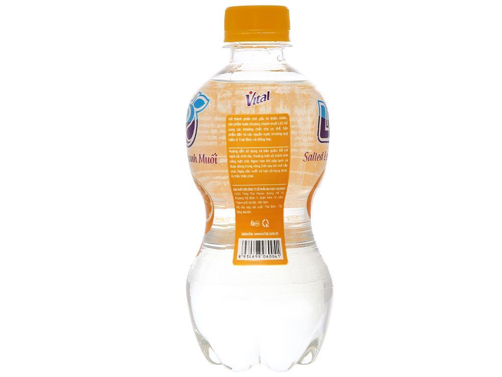 6 chai nước khoáng có ga Leo vị chanh muối 350ml 4