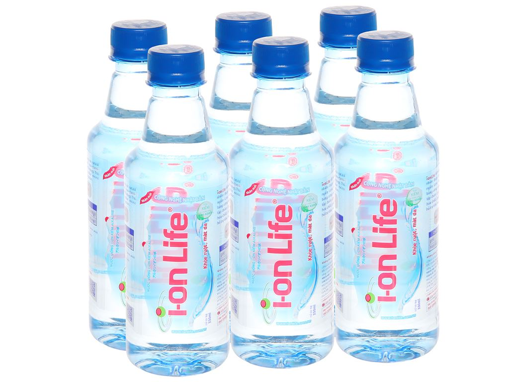 6 chai Nước uống i-on kiềm Akaline I-on Life 330ml 1