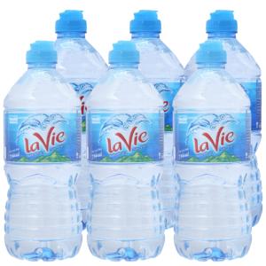 6 chai nước khoáng La Vie 750ml
