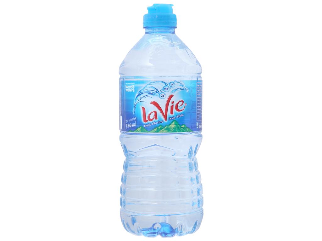 Thùng 12 chai nước khoáng La Vie 750ml 2