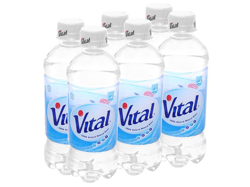 6 chai nước khoáng Vital 350ml 1