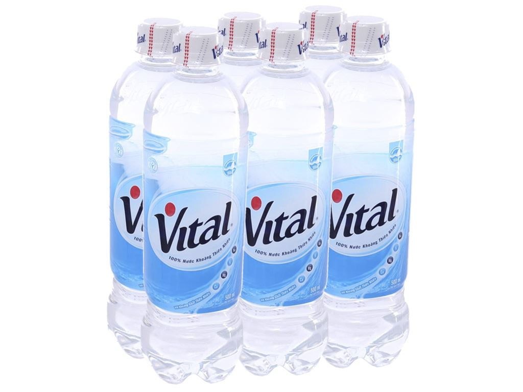 6 chai Nước khoáng Vital 500ml 1
