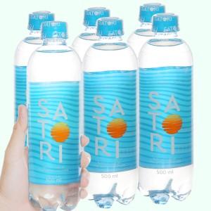 6 chai nước tinh khiết Satori 500ml