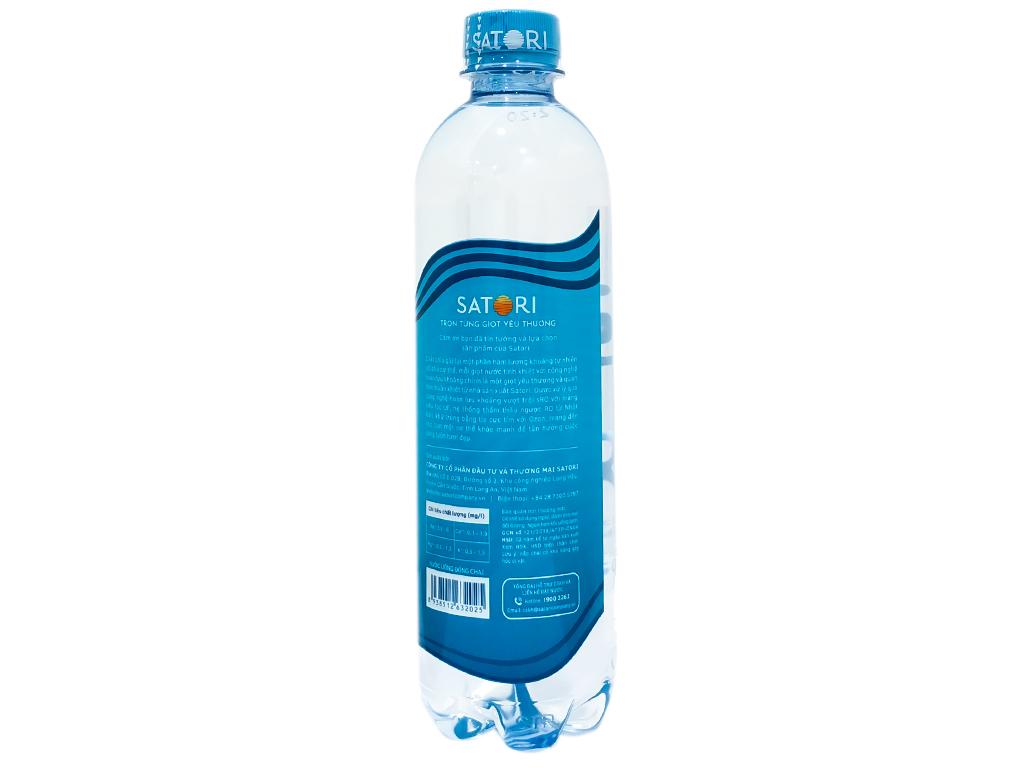 Thùng 24 chai nước tinh khiết Satori 500ml 3
