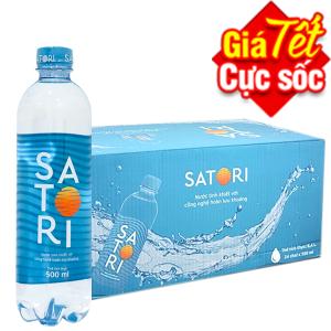 Thùng 24 chai nước tinh khiết Satori 500ml