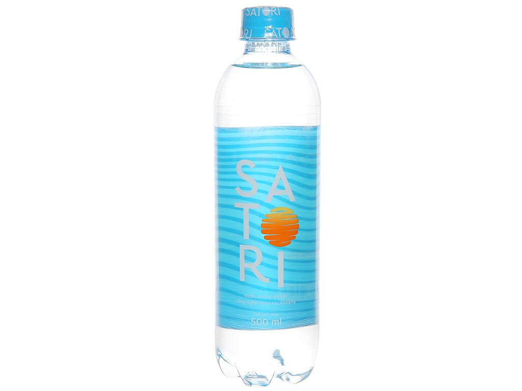 Thùng 24 chai nước tinh khiết Satori 500ml 2