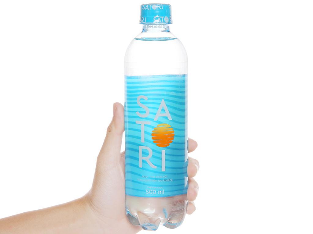 Thùng 24 chai nước tinh khiết Satori 500ml 5