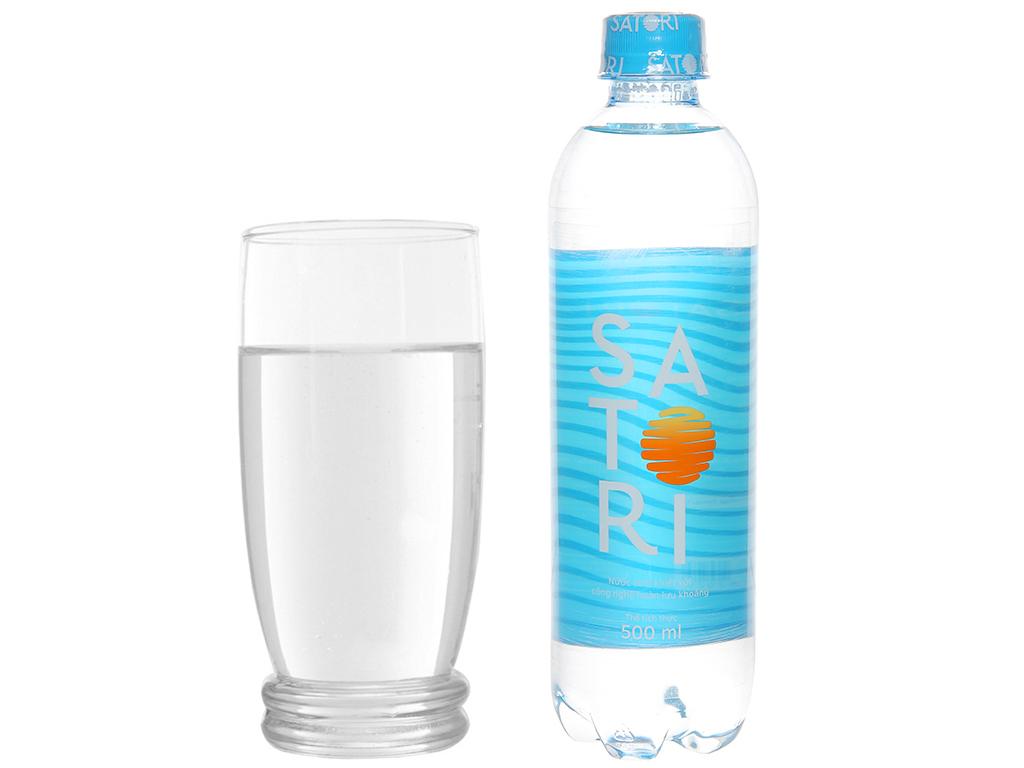 Thùng 24 chai nước tinh khiết Satori 500ml 6