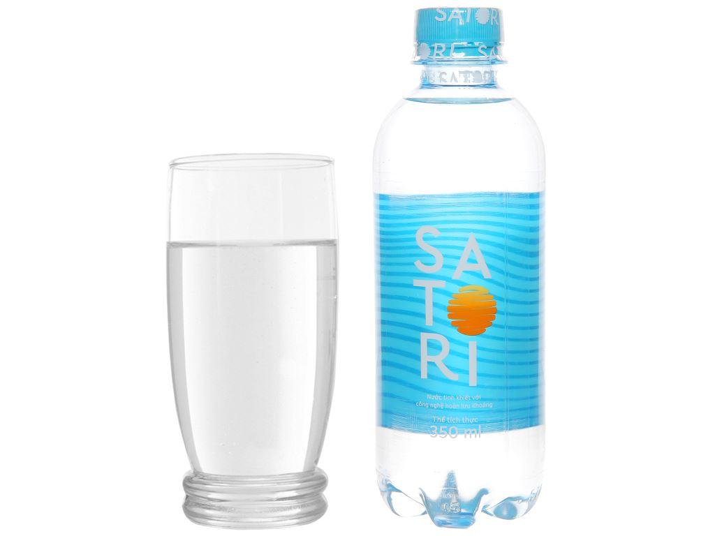 6 chai nước tinh khiết Satori 350ml 6