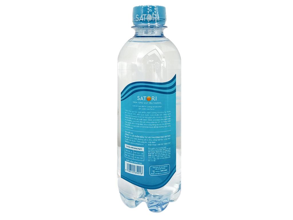 Thùng 24 chai nước tinh khiết Satori 350ml 3