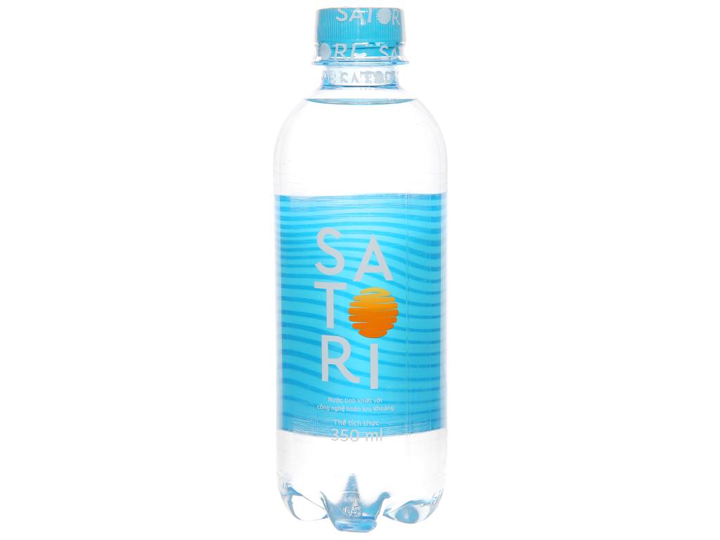 Thùng 24 chai Nước tinh khiết Satori 350ml 2