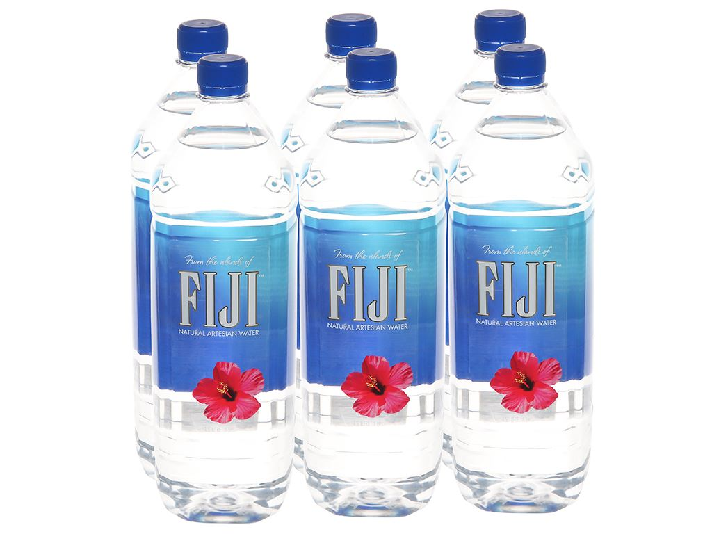 6 chai nước khoáng Fiji 1.5 lít 1