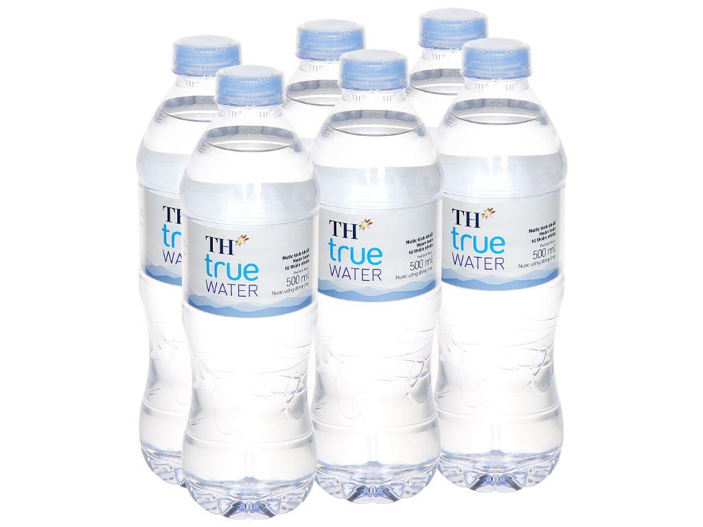 6 chai nước tinh khiết TH True Water 500ml 1