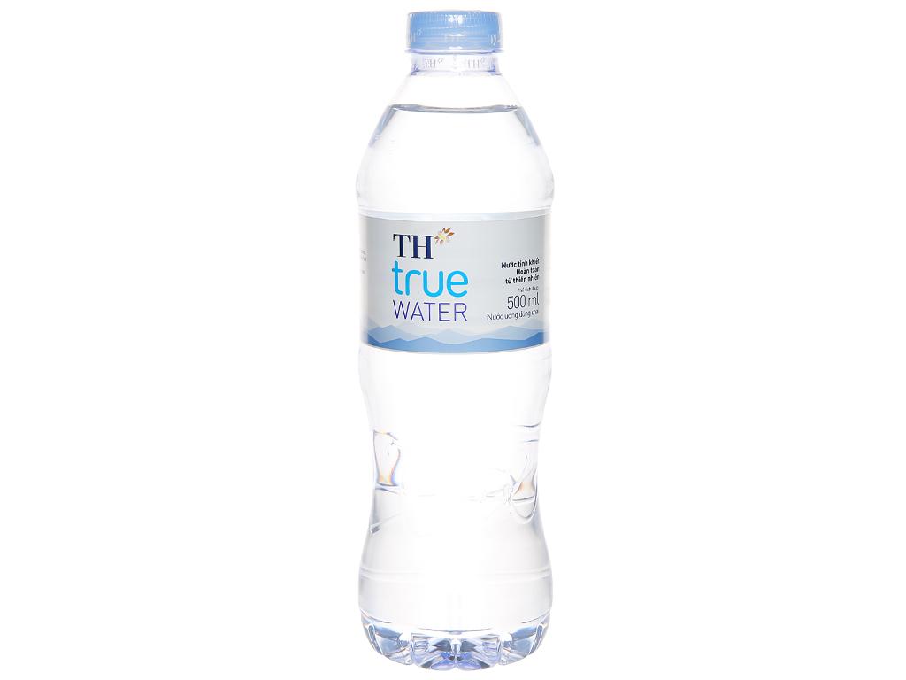 6 chai nước tinh khiết TH True Water 500ml 2