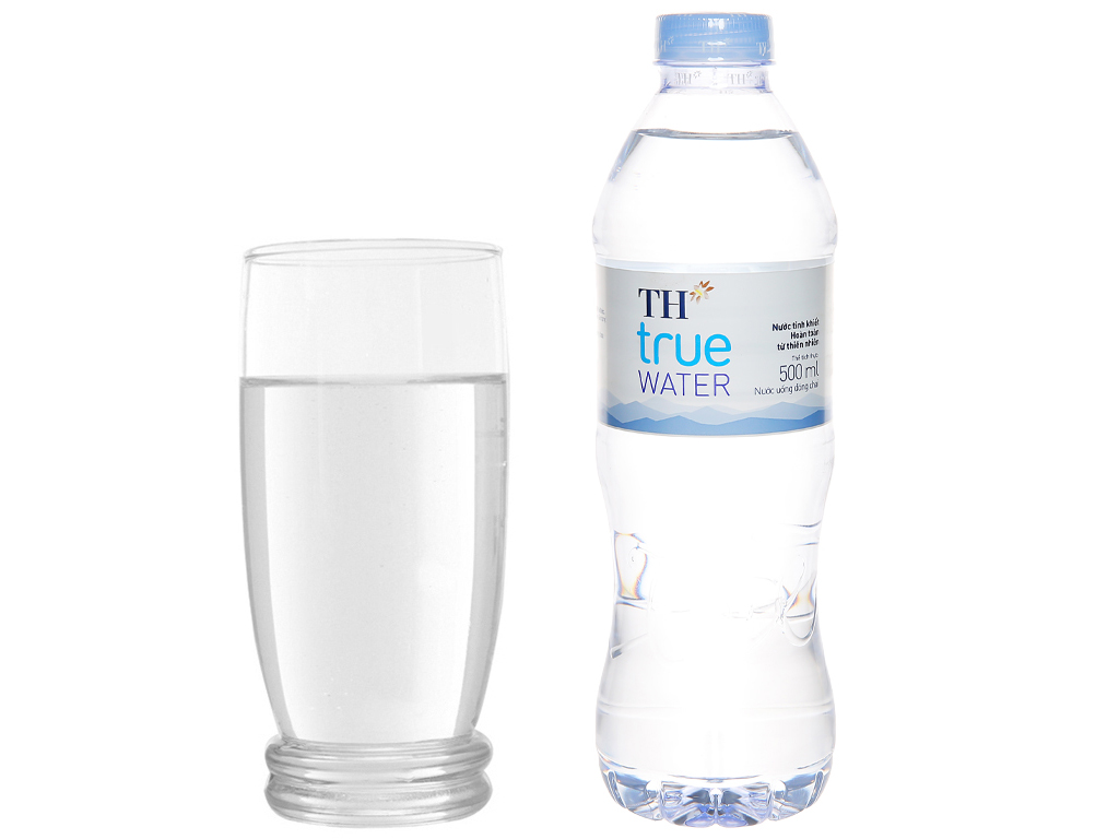 6 chai nước tinh khiết TH True Water 500ml 6