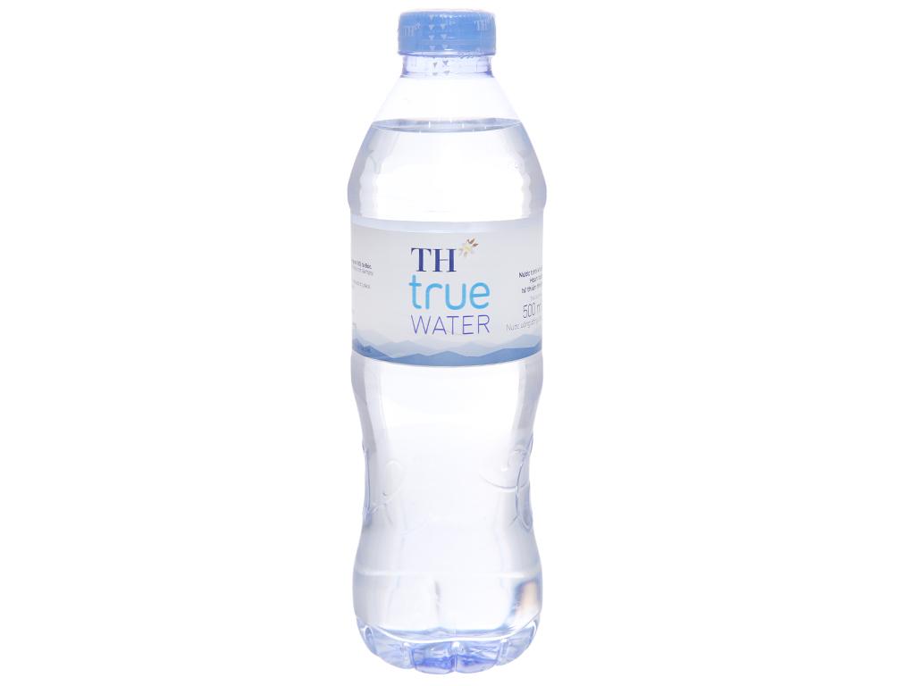 Thùng 24 chai nước tinh khiết TH True Water 500ml 2