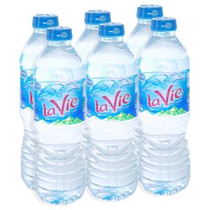 6 chai nước khoáng La Vie 500ml