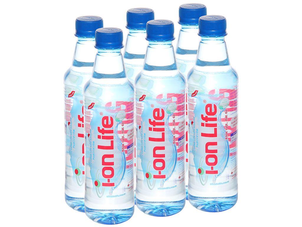 6 chai nước uống i-on kiềm Akaline I-on Life 450ml 1