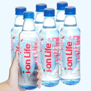 6 chai nước uống i-on kiềm Akaline I-on Life 450ml