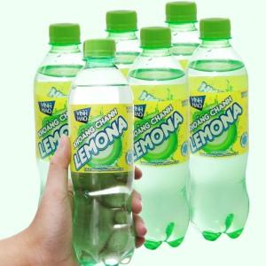 6 chai nước khoáng có ga Vĩnh Hảo Lemona vị chanh 500ml