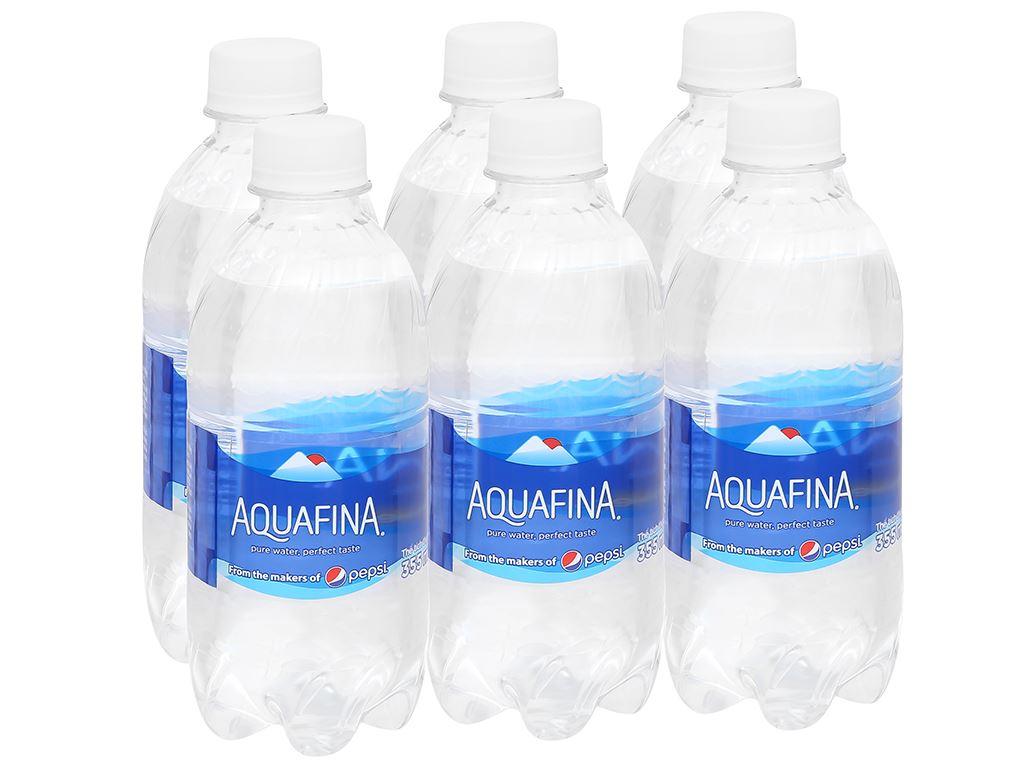 6 chai nước tinh khiết Aquafina 355ml 1