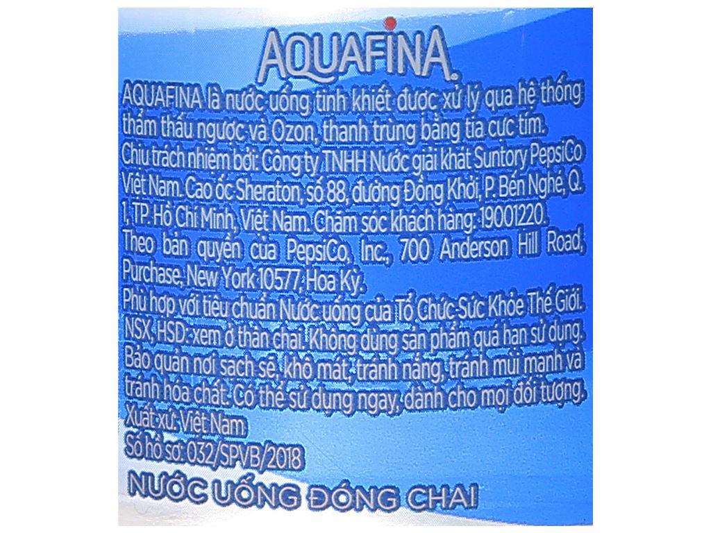 6 chai nước tinh khiết Aquafina 355ml 6