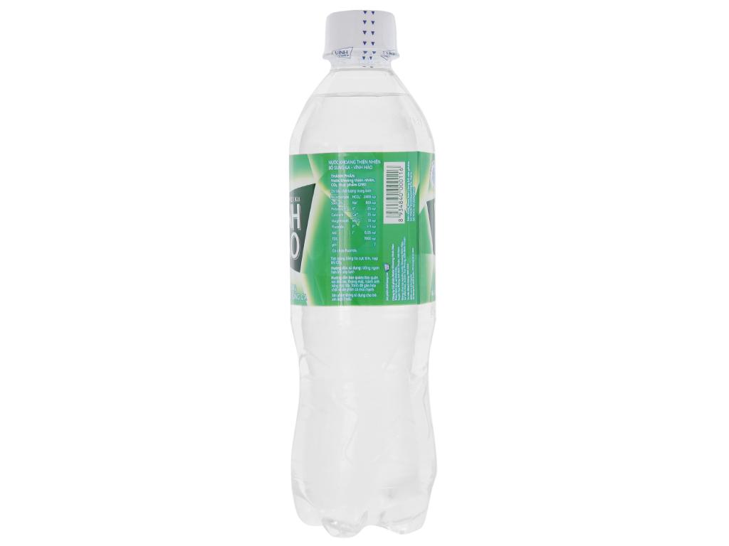 6 chai nước khoáng có ga Vĩnh Hảo 500ml 3