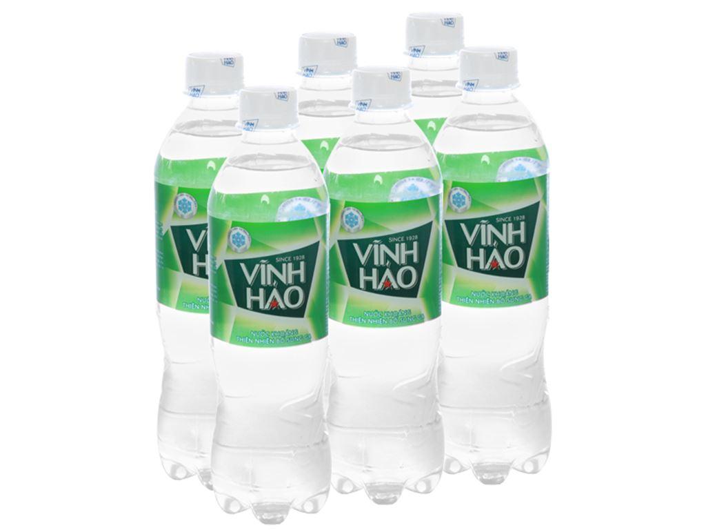 6 chai nước khoáng có ga Vĩnh Hảo 500ml 1