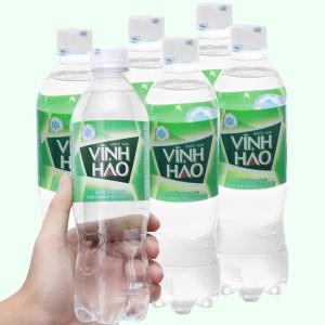 6 chai nước khoáng có ga Vĩnh Hảo 500ml