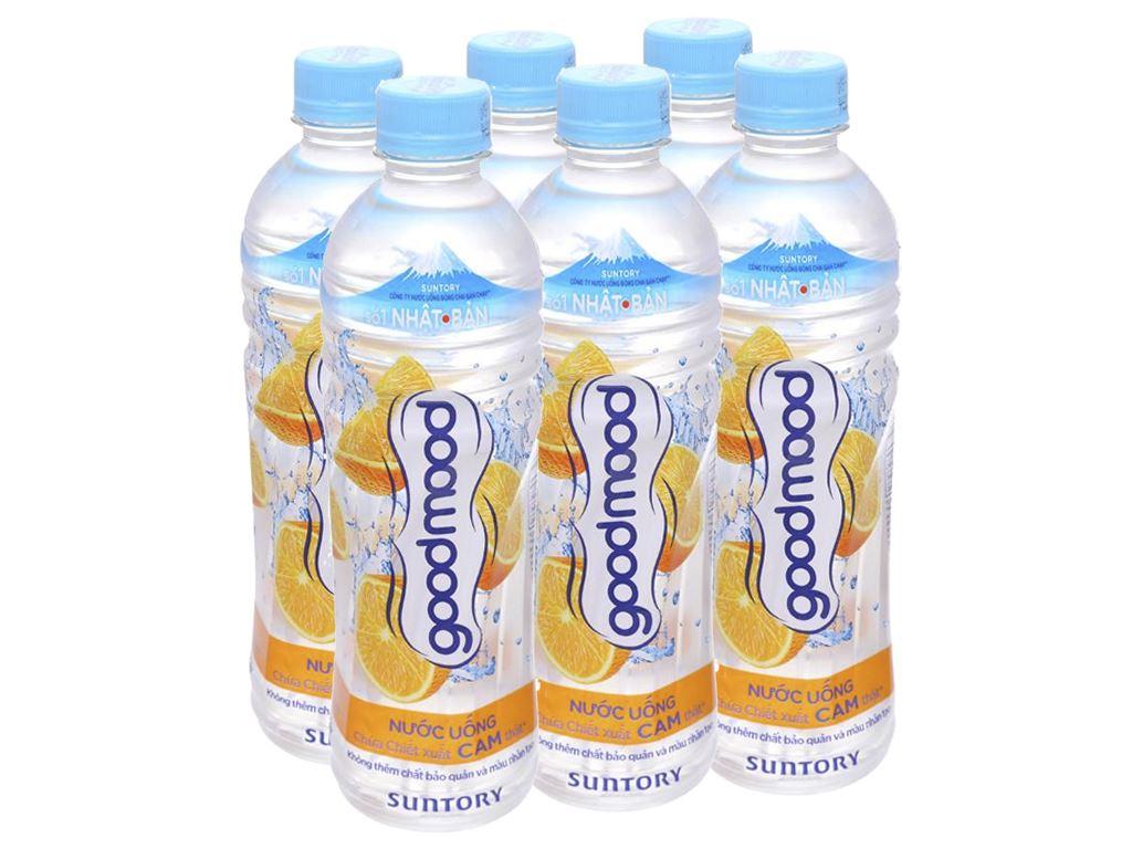 6 chai nước uống Good Mood vị cam 455ml 1