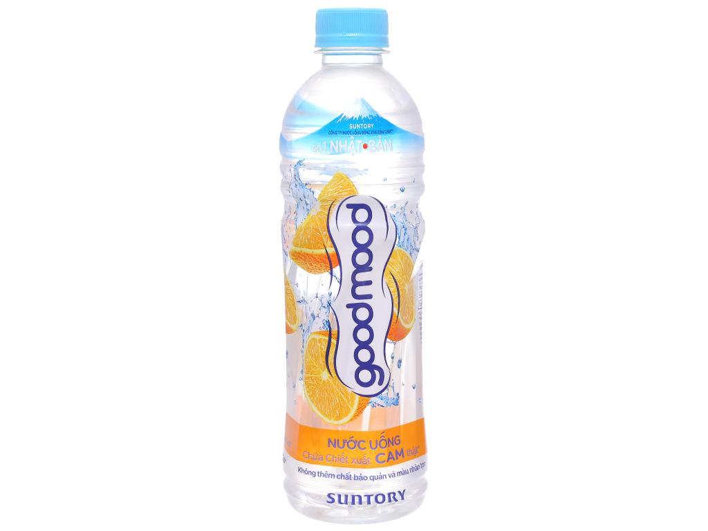 Thùng 24 chai nước uống Good Mood vị cam 455ml 2