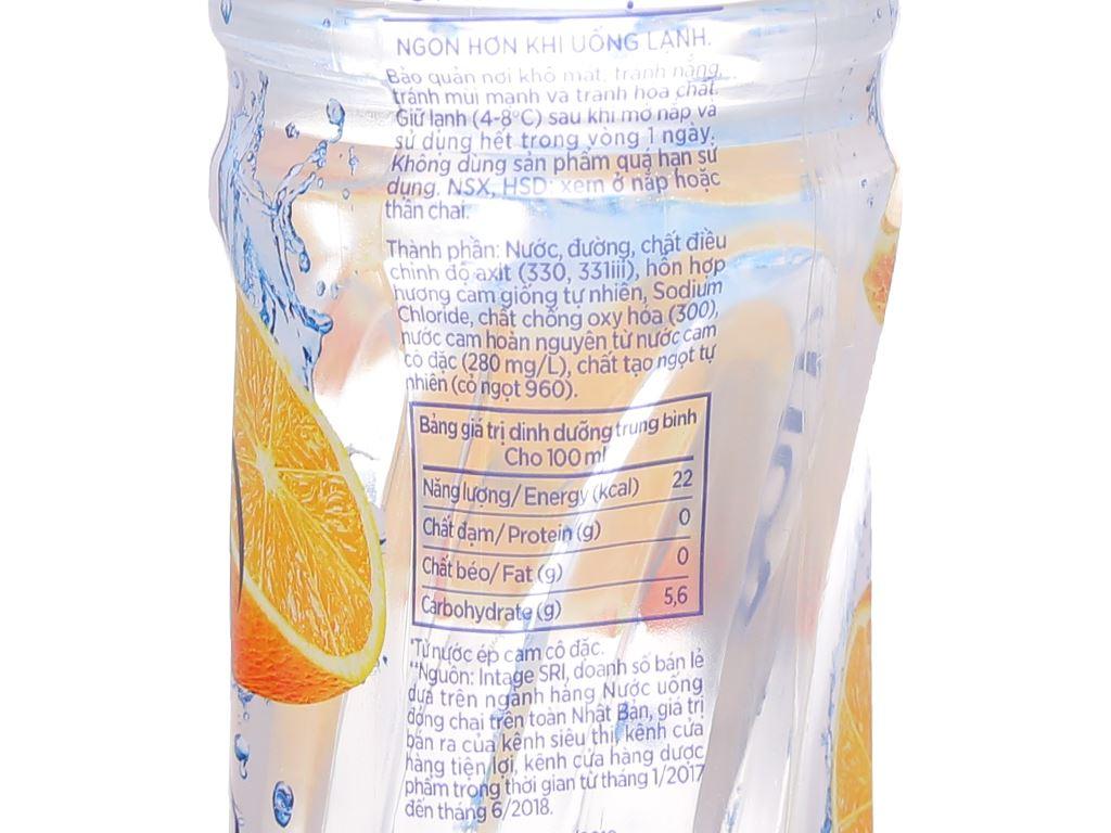 Thùng 24 chai nước uống Good Mood vị cam 455ml 4