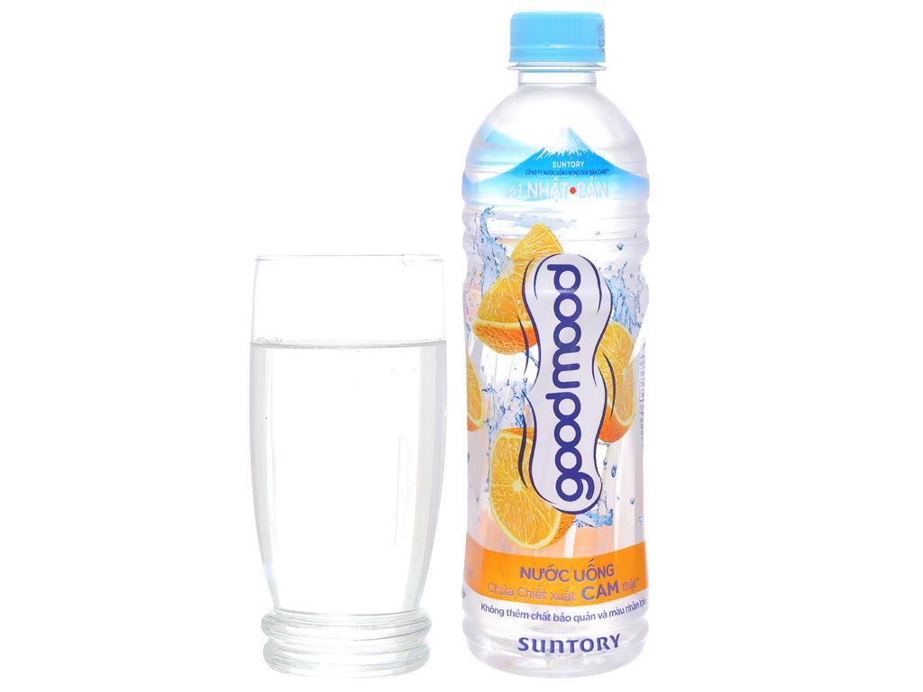 Thùng 24 chai nước uống Good Mood vị cam 455ml 5