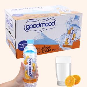 Thùng 24 chai nước uống Good Mood vị cam 455ml