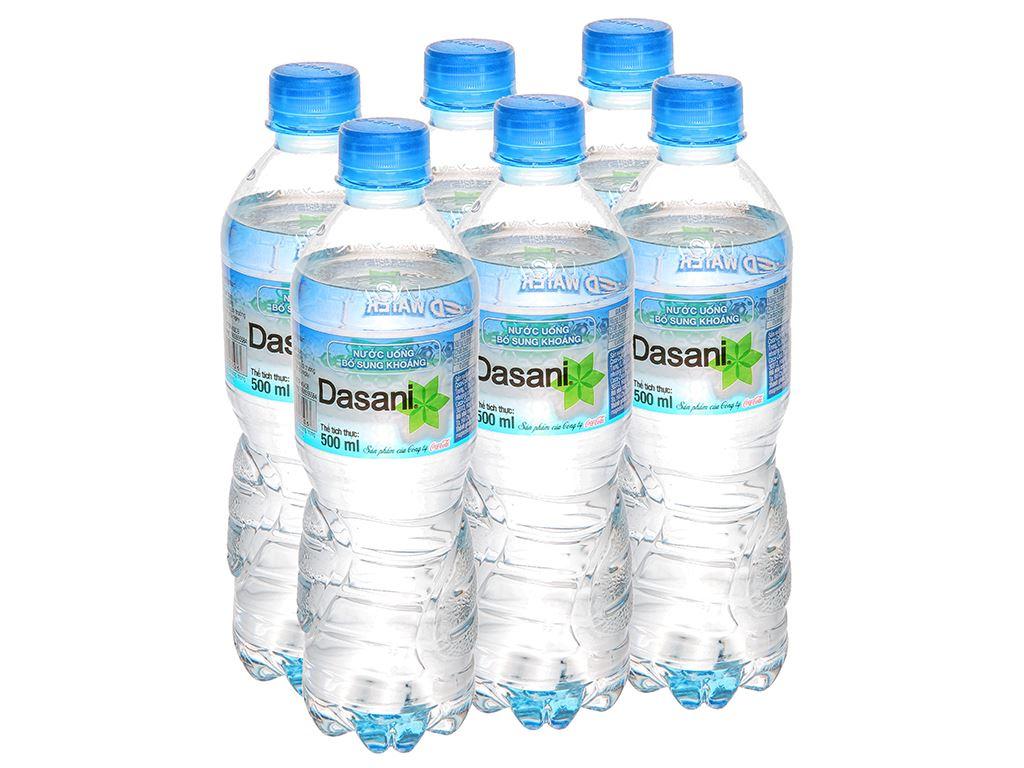 6 chai nước khoáng Dasani 500ml 1