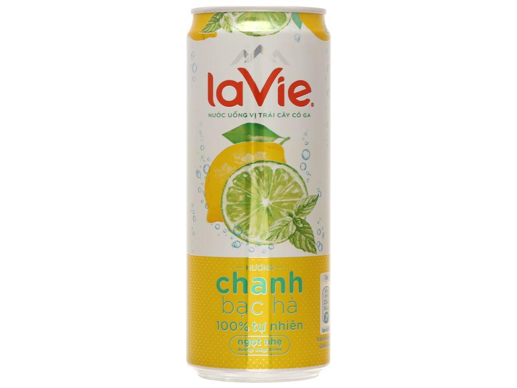 Nước uống vị trái cây có ga La Vie Sparkling hương chanh bạc hà 330ml 1